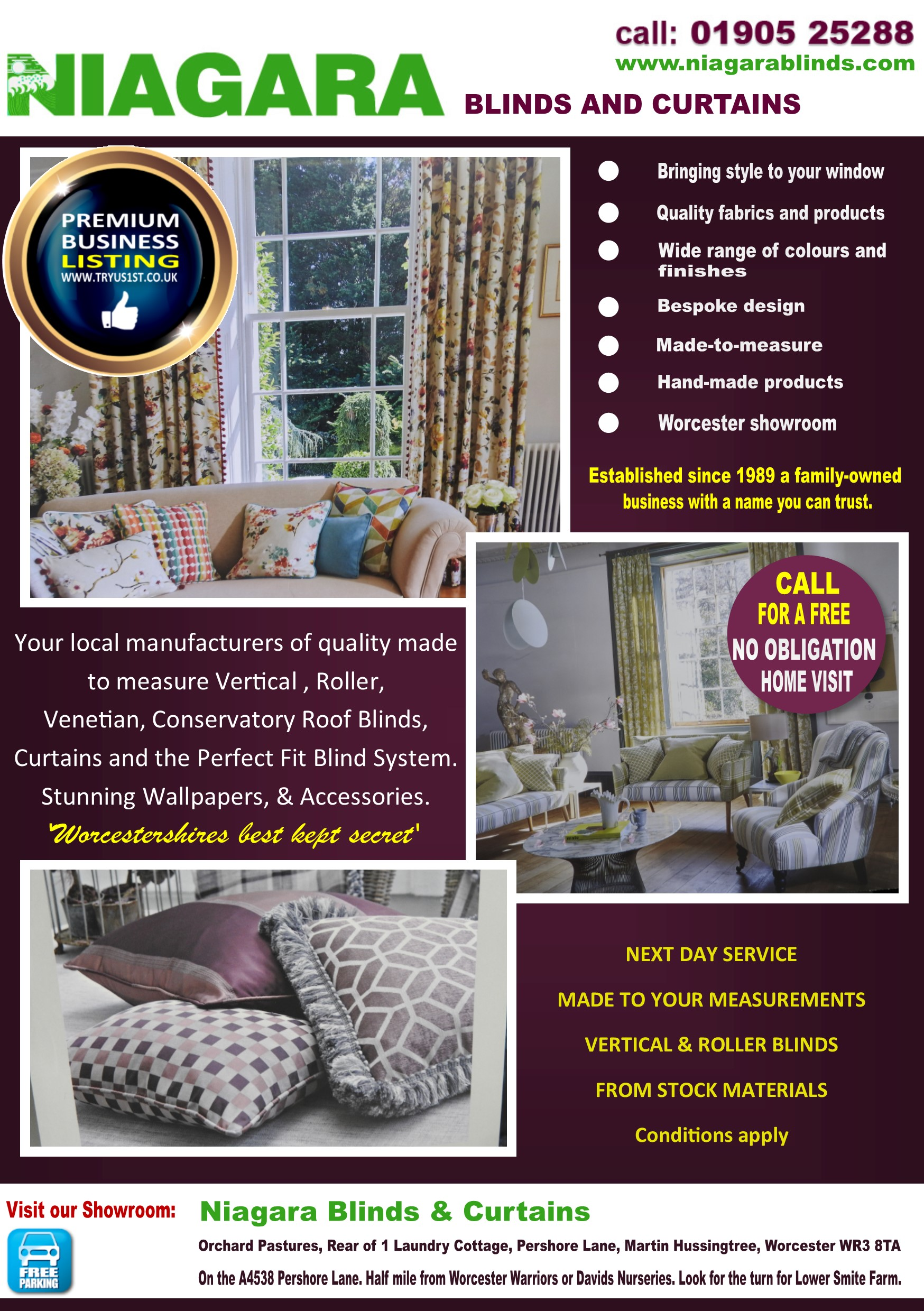 Niagara Blinds and Curtains Droitwich