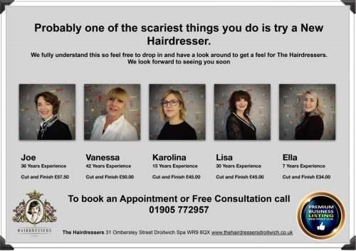 The Hairdressers Droitwich - Try Us 1st