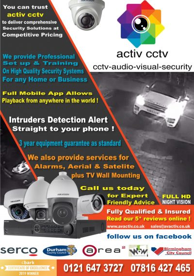 activ cctv Audio – Visual – Security