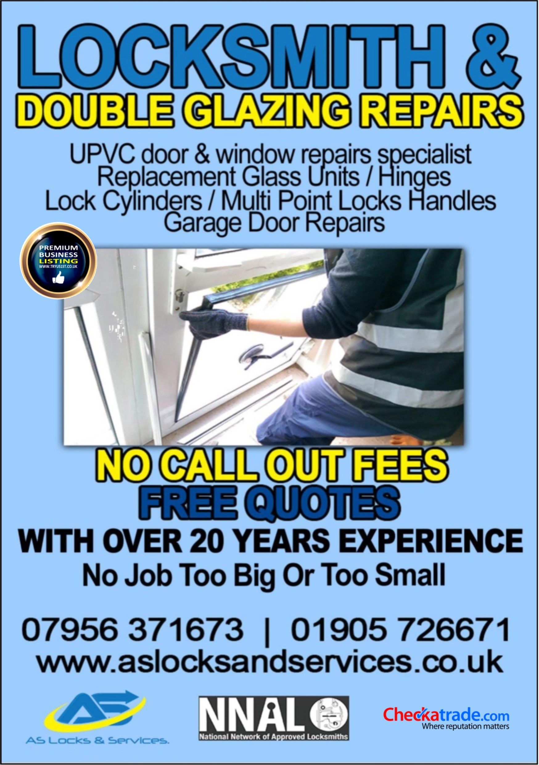 AS Locks Locksmith & Double Glazing Repairs