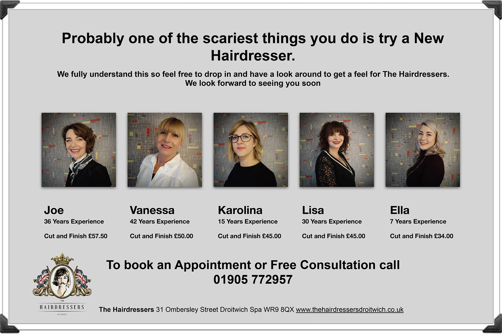 The Hairdressers Droitwich Feb 2019
