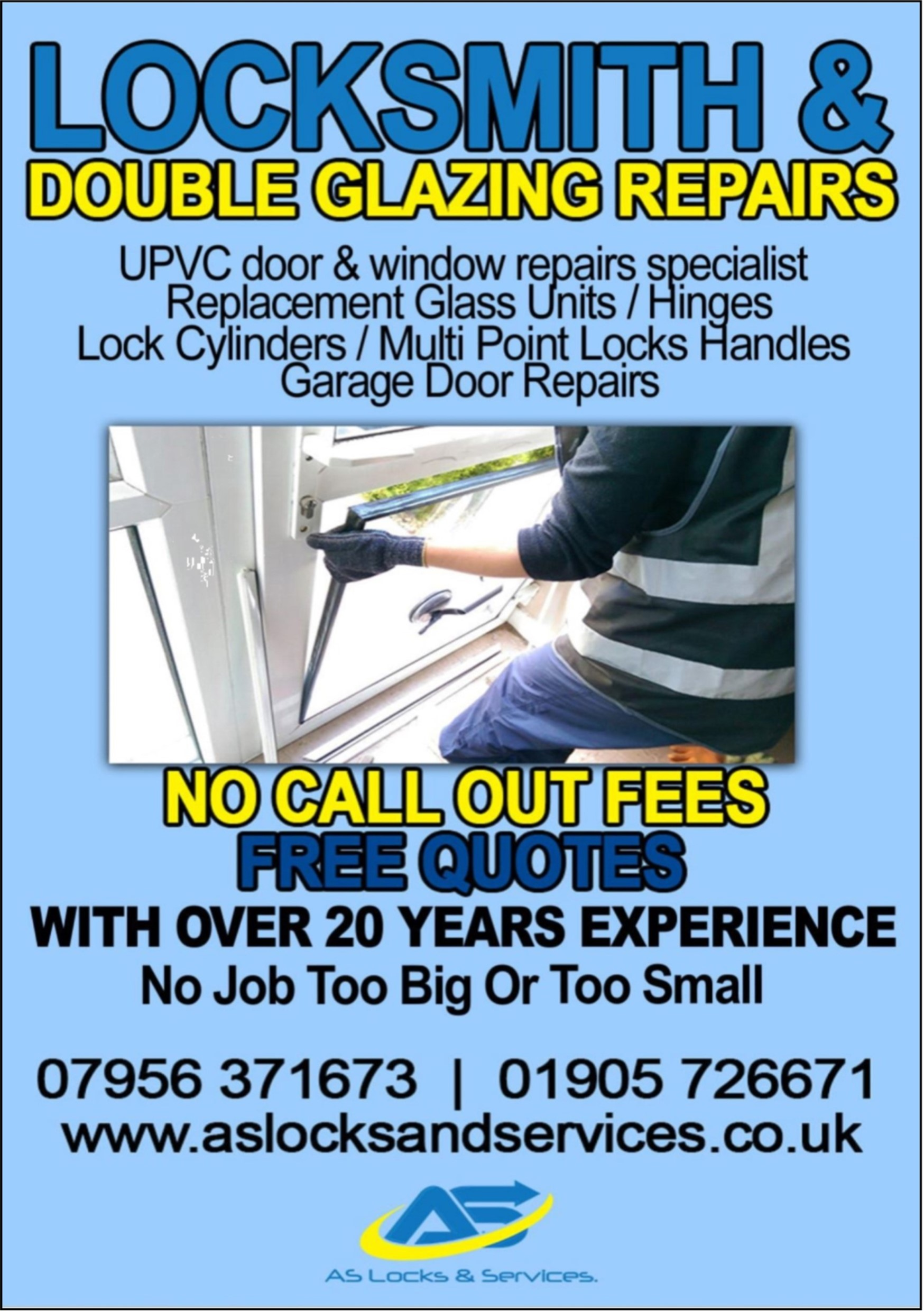 AS Locks - Locksmith - Double Glazing Repairs - Try us 1st Local Traders