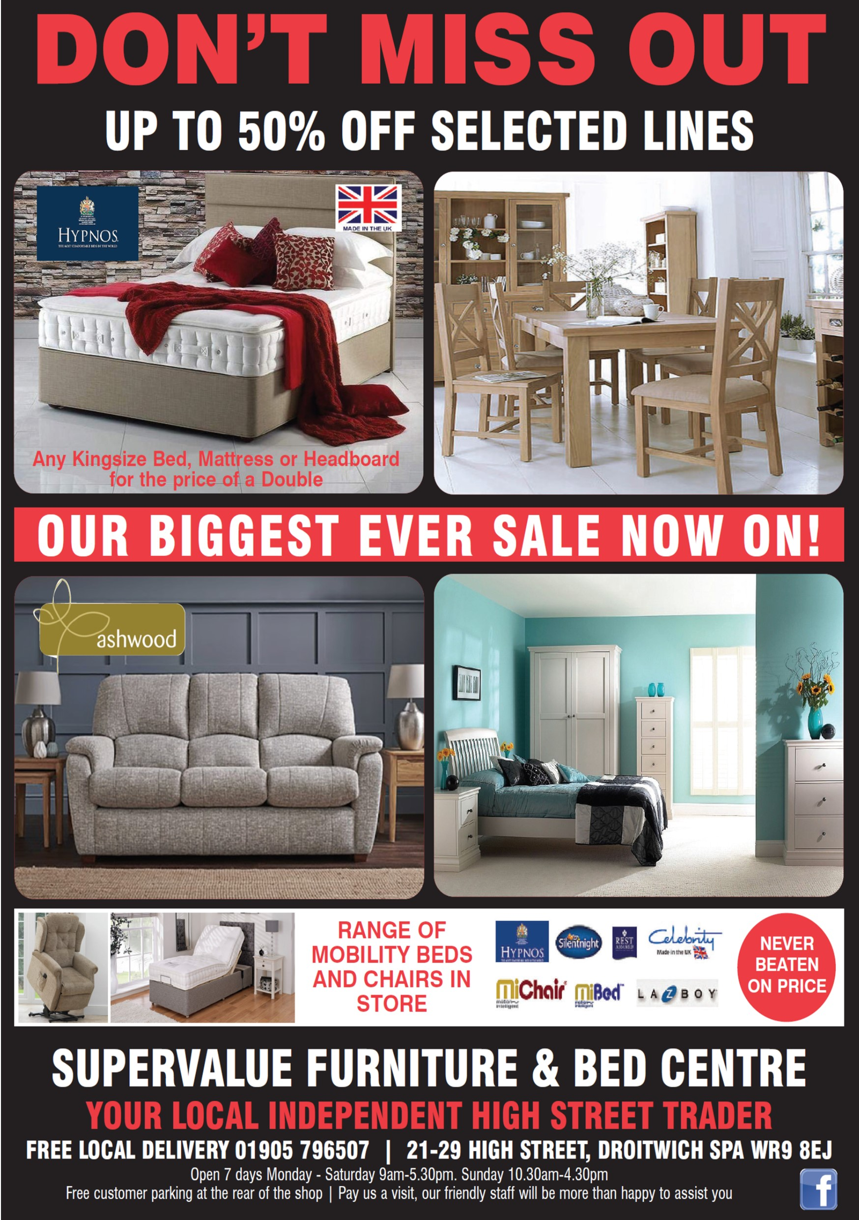 Super Value Furniture Droitwich - Try us 1st Local Traders