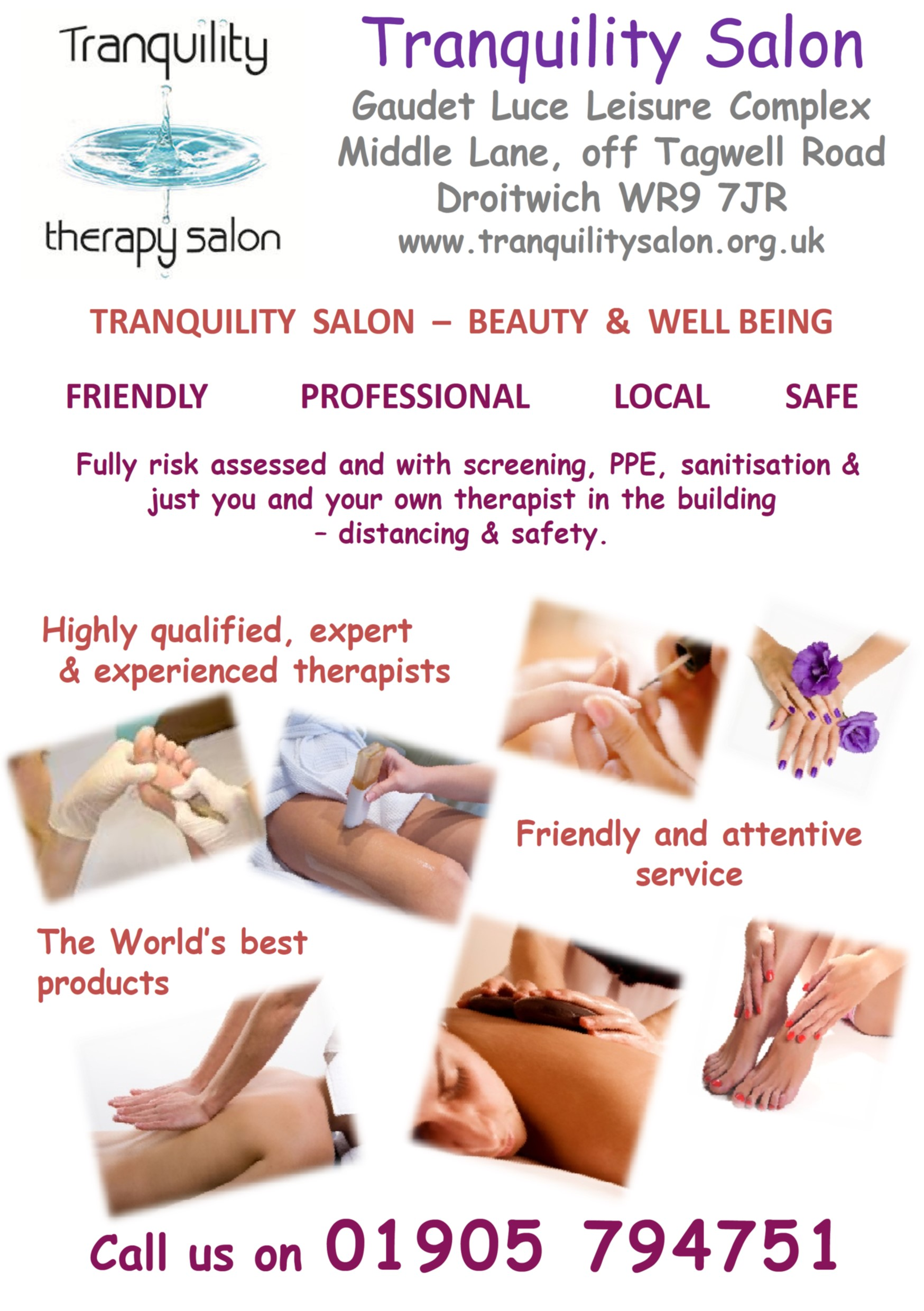 Tranquility Salon Droitwich Beauty and Well Being - Try us 1st Local Traders