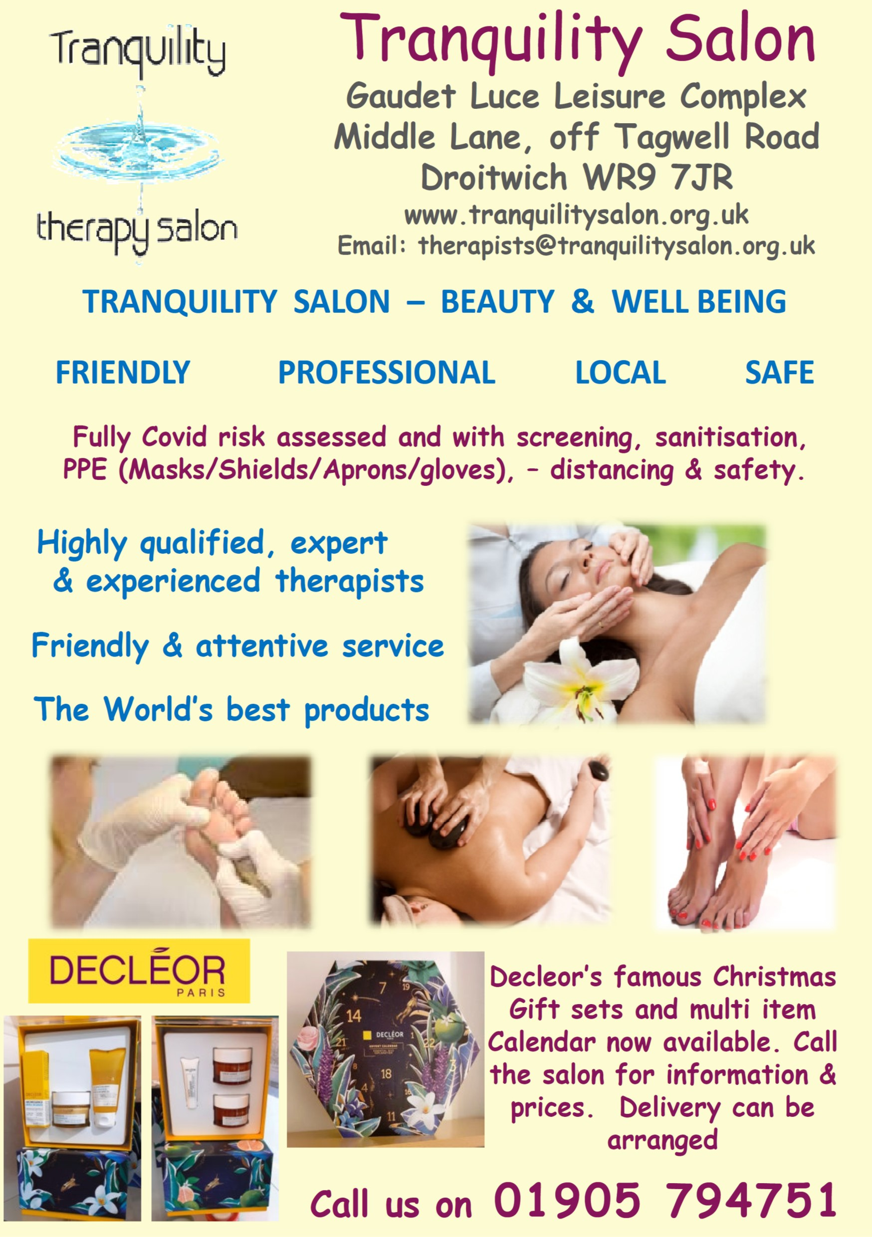 Tranquility Beauty Salon Droitwich