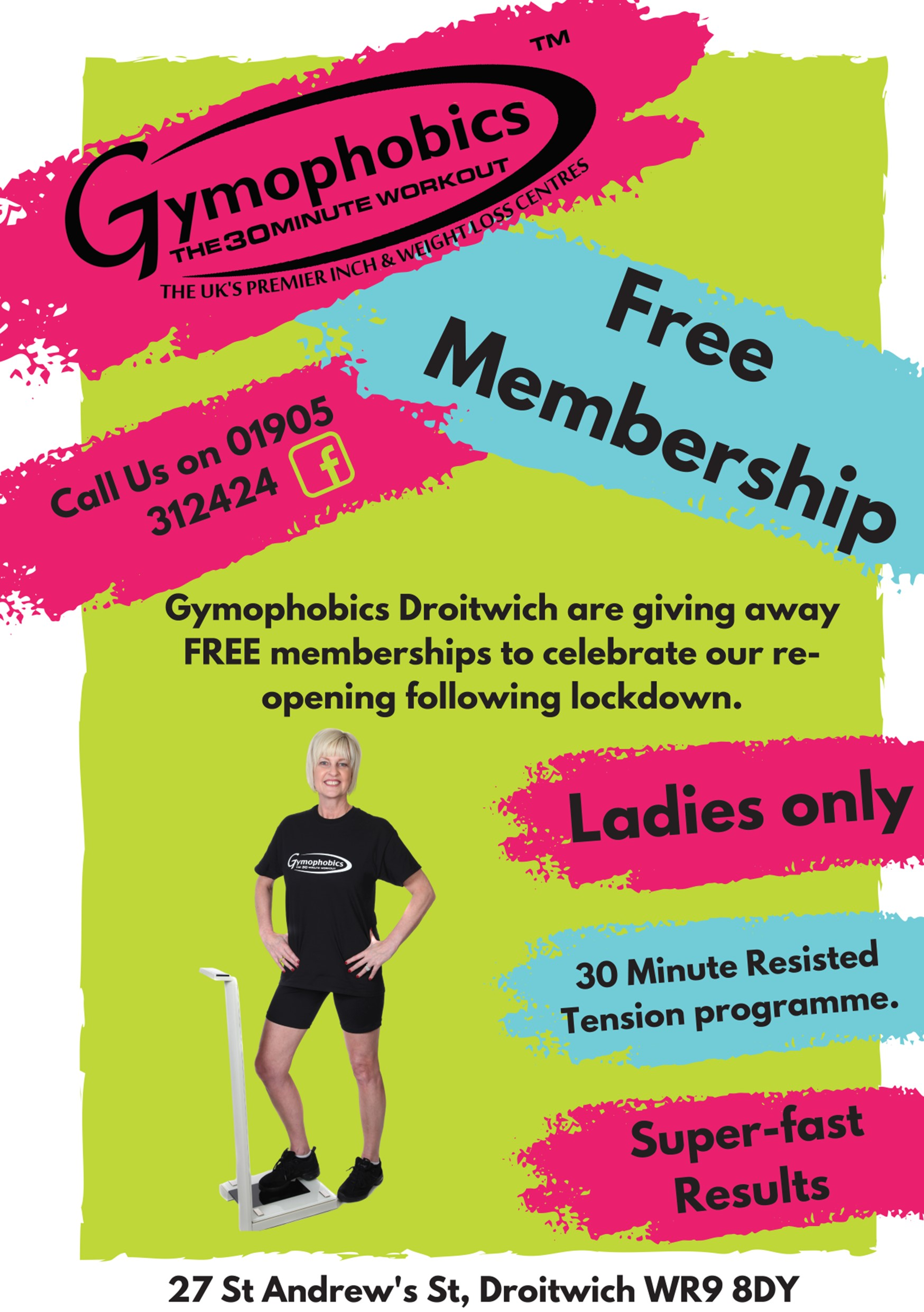 Gymophobics Droitwich Ladies only Gym