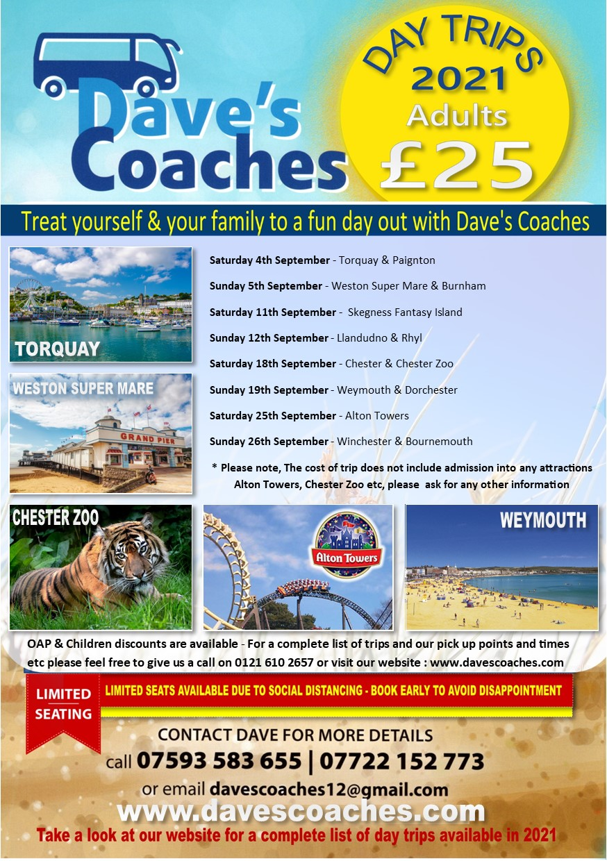 Daves Coaches Day Trips